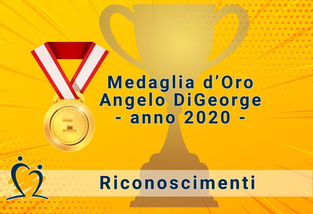 Prof. Bruno Marino insignito della Medaglia d'Oro Angelo DiGeorge per l'anno 2020.