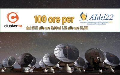100 ore per Aidel22 – in collaborazione con cluster.fm
